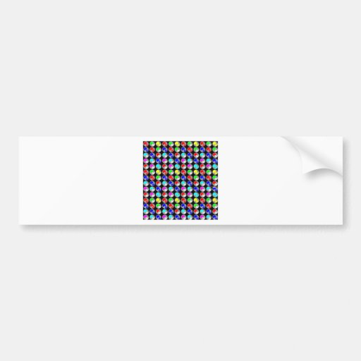 NVN5 NavinJOSHI Art Blue Red COLORFUL Sparkles Bumper Stickers