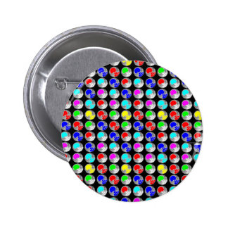 NVN5 NavinJOSHI Art Blue Red COLORFUL Sparkles Pinback Button