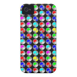 NVN5 NavinJOSHI Art Blue Red COLORFUL Sparkles iPhone 4 Cases