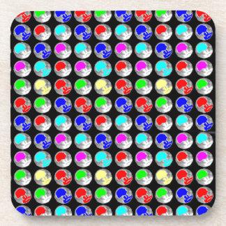 NVN5 NavinJOSHI Art Blue Red COLORFUL Sparkles Beverage Coasters