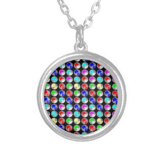 NVN5 NavinJOSHI Art Blue Red COLORFUL Sparkles Jewelry