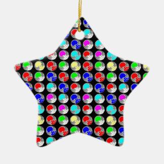 NVN5 NavinJOSHI Art Blue Red COLORFUL Sparkles Christmas Ornaments
