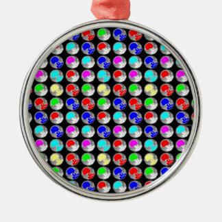 NVN5 NavinJOSHI Art Blue Red COLORFUL Sparkles Christmas Tree Ornament