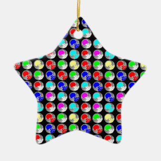NVN5 NavinJOSHI Art Blue Red COLORFUL Sparkles Christmas Tree Ornaments