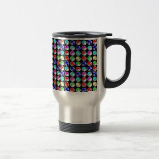 NVN5 NavinJOSHI Art Blue Red COLORFUL Sparkles Travel Mug