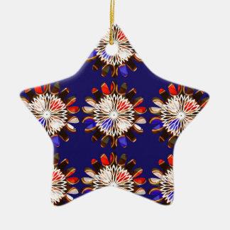 NVN6 Elegant BLUE Sunflower Sun CHAKRA NavinJOSHI Christmas Tree Ornament