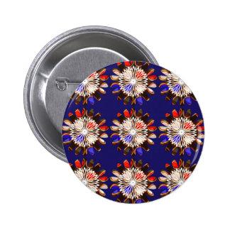 NVN6 girasol AZUL elegante Sun CHAKRA NavinJOSHI Pin Redondo De 2 Pulgadas