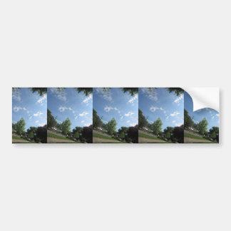 NVN721 American Spring SKYLINE GRAND n Note Cards Car Bumper Sticker