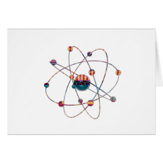 NVN725 ATOM Artistic Science Lab Space Molecular Stationery Note Card