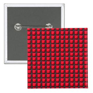 NVN7 NavinJoshi Art INTENSE RED Energy Squares Pinback Button