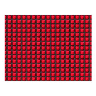 NVN7 NavinJoshi Art INTENSE RED Energy Squares Postcard