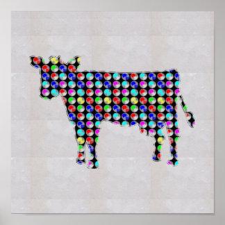NVN81 COW animal domestic milk cheese  NavinJOSHI Poster