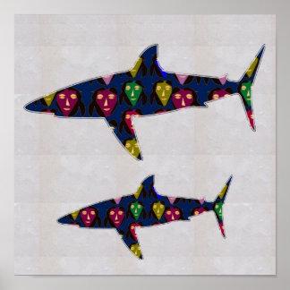 NVN83 SHARK fish play danger fun kids  NavinJOSHI Poster