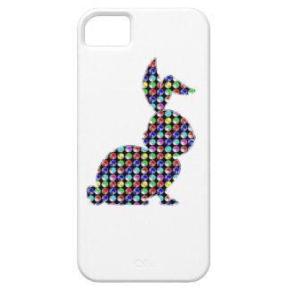 NVN87 Rabbit BUNNY dot painted NavinJOSHI kids zoo Cover For iPhone 5/5S