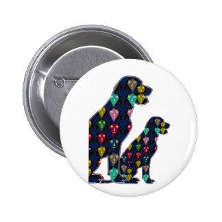 nvn88 dog PET LABRADOR dot painted pet navinJOSHI Button