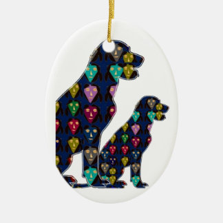 nvn88 dog PET LABRADOR dot painted pet navinJOSHI Ornaments