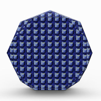 NVN8 NavinJOSHI Blue SQUARED art Acrylic Award