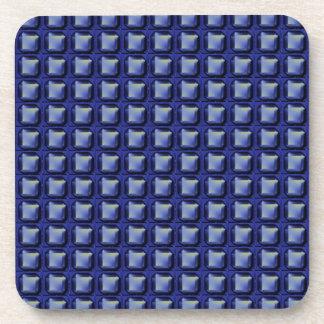 NVN8 NavinJOSHI Blue SQUARED art Drink Coasters