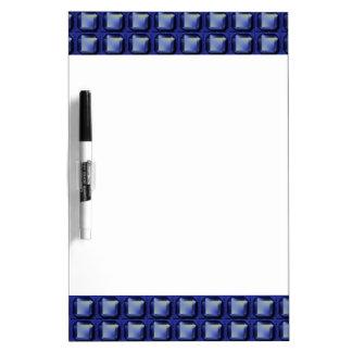 NVN8 NavinJOSHI Blue SQUARED art Dry Erase Whiteboard