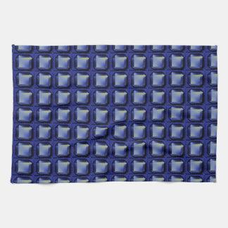 NVN8 NavinJOSHI Blue SQUARED art Kitchen Towel