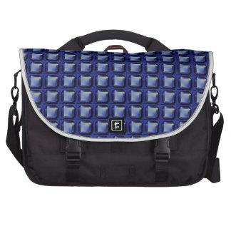 NVN8 NavinJOSHI Blue SQUARED art Laptop Bags
