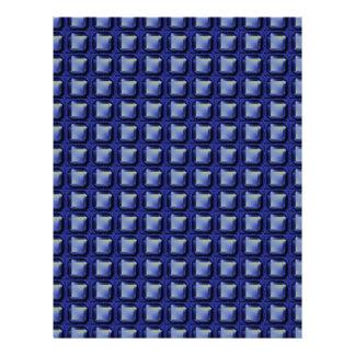 NVN8 NavinJOSHI Blue SQUARED art Letterhead Design