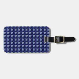 NVN8 NavinJOSHI Blue SQUARED art Tag For Luggage