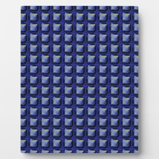 NVN8 NavinJOSHI Blue SQUARED art Photo Plaques