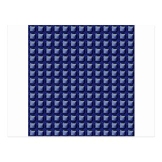 NVN8 NavinJOSHI Blue SQUARED art Post Cards