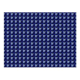 NVN8 NavinJOSHI Blue SQUARED art Post Card