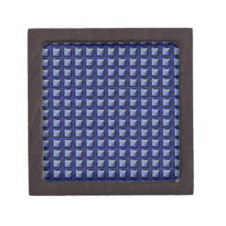 NVN8 NavinJOSHI Blue SQUARED art Premium Keepsake Box