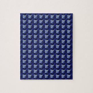 NVN8 NavinJOSHI Blue SQUARED art Jigsaw Puzzles