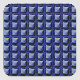 NVN8 NavinJOSHI Blue SQUARED art Square Sticker