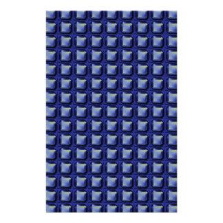 NVN8 NavinJOSHI Blue SQUARED art Custom Stationery