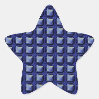 NVN8 NavinJOSHI Blue SQUARED art Star Stickers