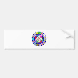 nvn94 OM Mantra Chant Yoga Meditation navinJOSHI 1 Bumper Sticker