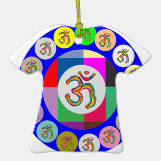 nvn94 OM Mantra Chant Yoga Meditation navinJOSHI 1 Christmas Tree Ornaments