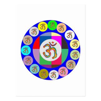 nvn94 OM Mantra Chant Yoga Meditation navinJOSHI 1 Postcard