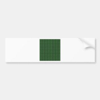 NVN9 NavinJOSHI Green Squared Graphic Art Deco Car Bumper Sticker