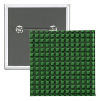 NVN9 NavinJOSHI Green Squared Graphic Art Deco Pinback Button