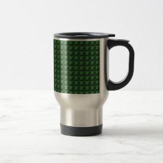 NVN9 NavinJOSHI Green Squared Graphic Art Deco Travel Mug