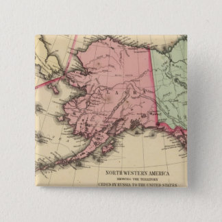 NW America Map by Mitchell Pinback Button