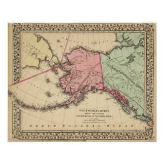 NW America Map by Mitchell Poster