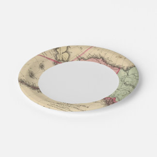 NW America Map by Mitchell 7 Inch Paper Plate