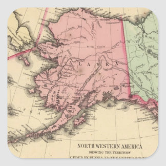 NW America Map by Mitchell Square Sticker