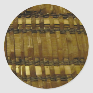 NW Coast woven fibers Classic Round Sticker