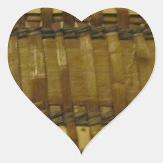 NW Coast woven fibers Heart Sticker