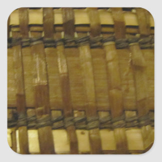 NW Coast woven fibers Square Sticker