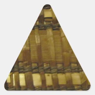 NW Coast woven fibers Triangle Sticker