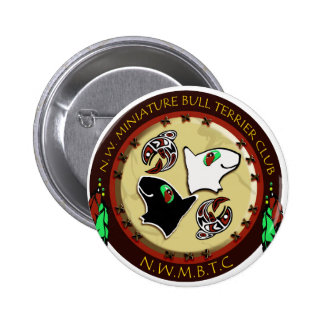NW Miniature bull terrier logo photoshop 300 dpi n Pinback Buttons
